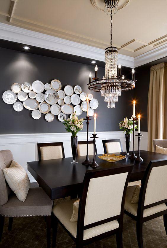 Decorare le pareti con i piatti 20 idee originali per ispirarvi - Decorare una parete ...