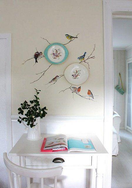Decorare le pareti con i piatti 20 idee originali per - Decorare una parete ...