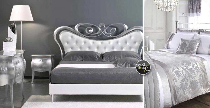 Camera da letto bianca e argento: ecco 15 idee che vi stupiranno!