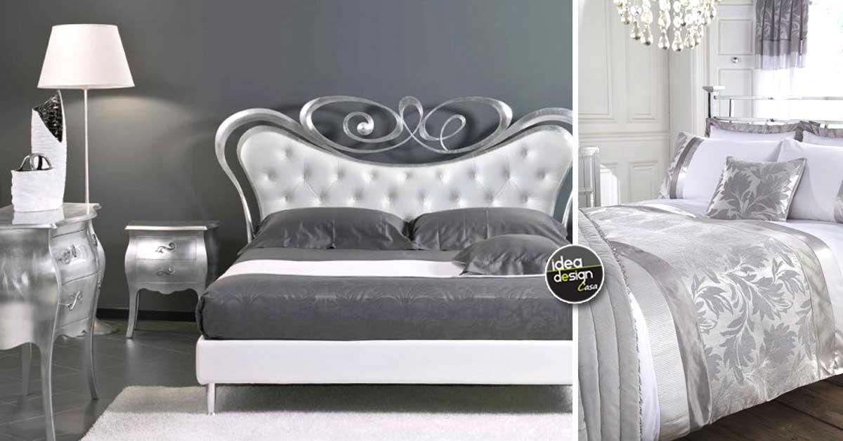Camera da letto bianca e argento: ecco 15 idee che vi ...