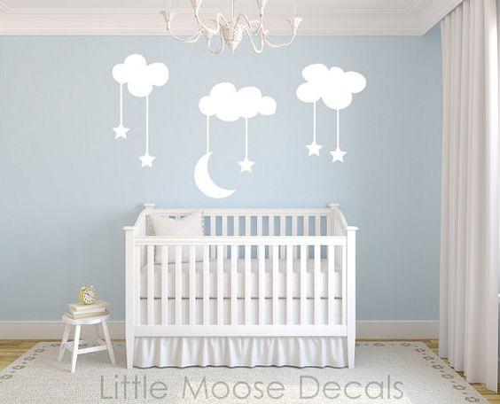 Nuvolette nella cameretta 15 idee per decorare la camera for Papillon bambino fai da te