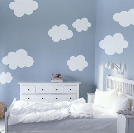Nuvolette nella cameretta 15 idee per decorare la camera - Idee per cameretta bimbo ...