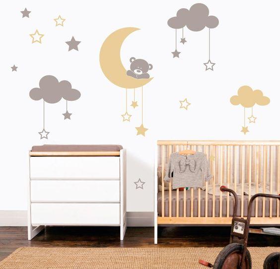 Nuvolette nella cameretta 15 idee per decorare la camera del bimbo - Decorare la cameretta ...