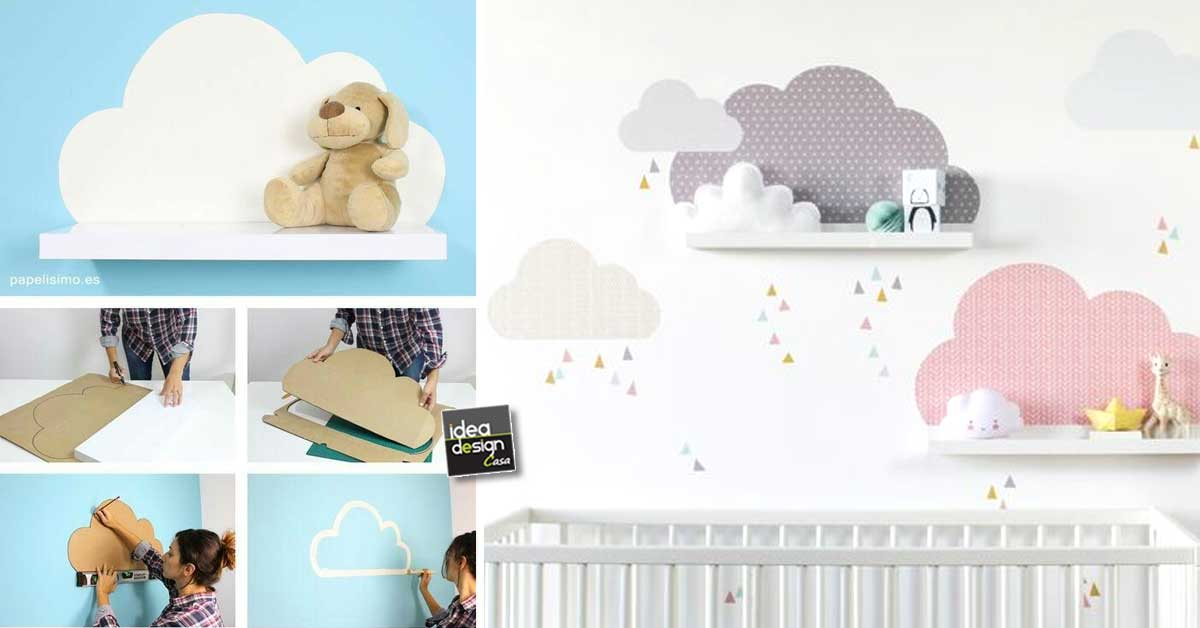 Nuvolette nella cameretta! 15 idee fai da te per decorare la camera del  vostro bimbo\u2026