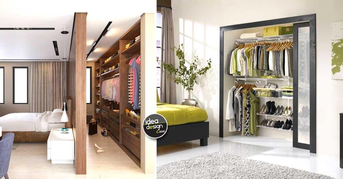 Organizzare la cabina armadio per ogni tipo di camera da ...