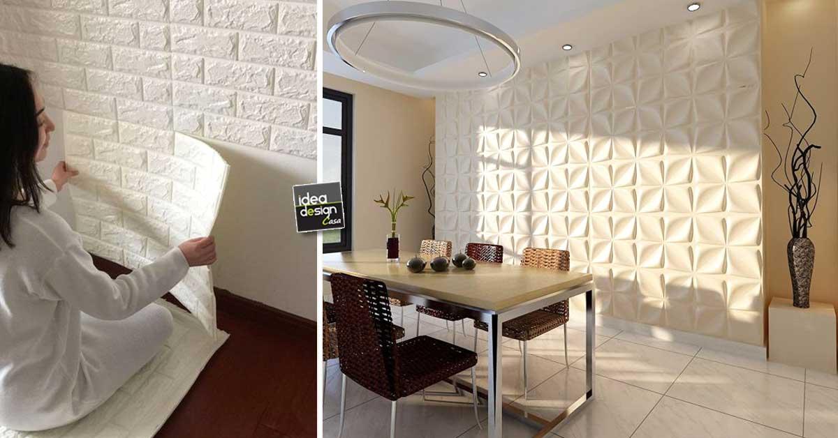 Pannelli adesivi 3d per pareti ecco 15 modelli per farvi for Brico adesivi pareti