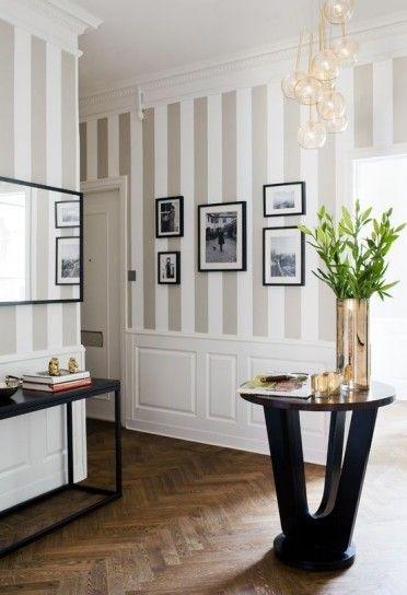 pared rayas para decorar con carcter idea 3 - Pintar Paredes A Rayas