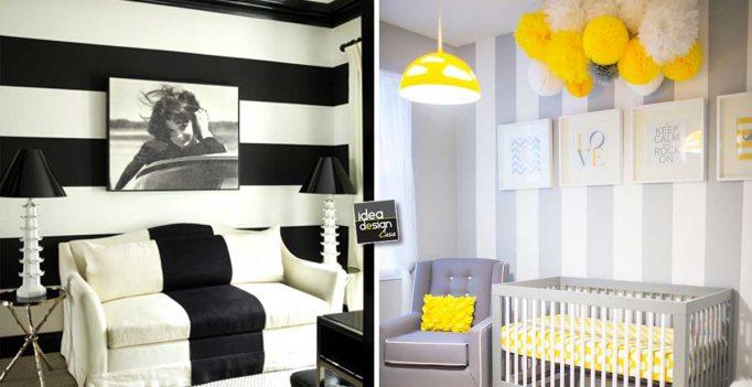 Pareti a strisce per decorare con carattere ecco 20 - Idea design casa ...