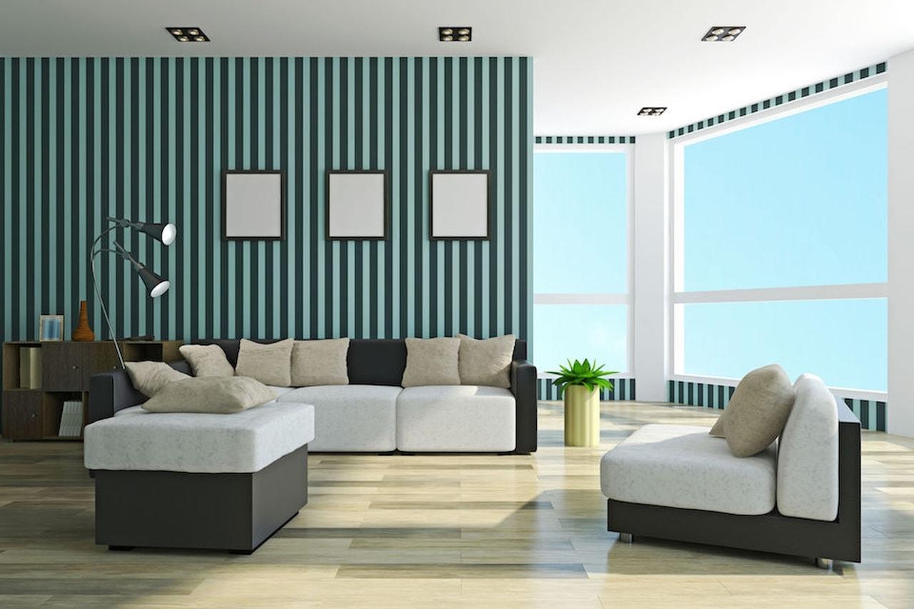 Pareti A Righe Blu : Pareti a strisce per decorare con carattere ecco esempi