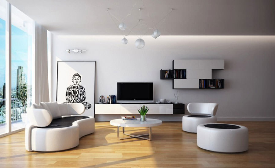 How to pull over black and wood in the living room idea 1