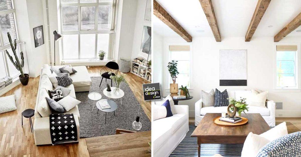 Accostare bianco e legno nel salone! 20 bellissimi esempi ...