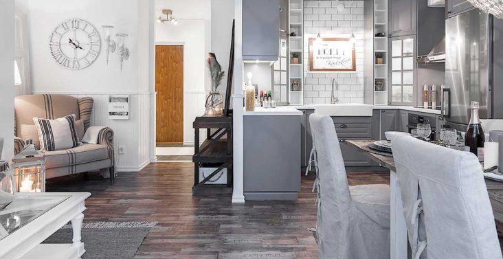 Idee creative per arredare casa su for Soggiorno con cucina a vista