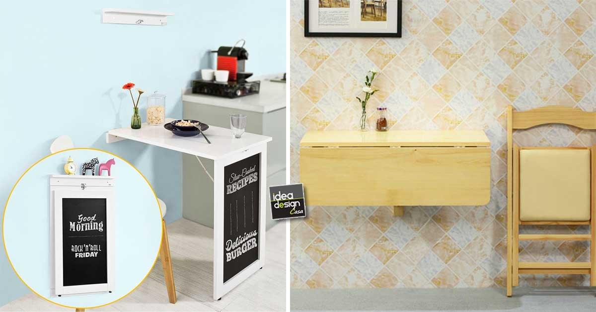 Tavoli salvaspazio per piccola cucina ecco 15 modelli per - Colori per cucina piccola ...