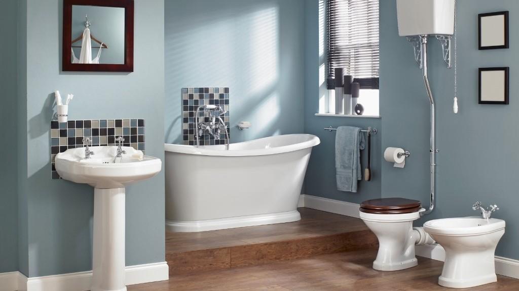 Idee Per Rivestimento Bagno Foto : Decorare casa con bianco e azzurro ecco idee per