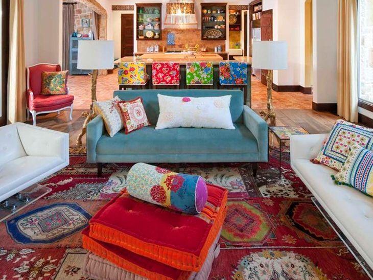 Arredare il soggiorno in stile Bohemien