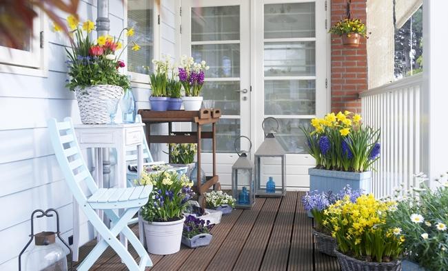 Il terrazzo in stile provenzale 15 idee che vi faranno for Idee per terrazzi fioriti