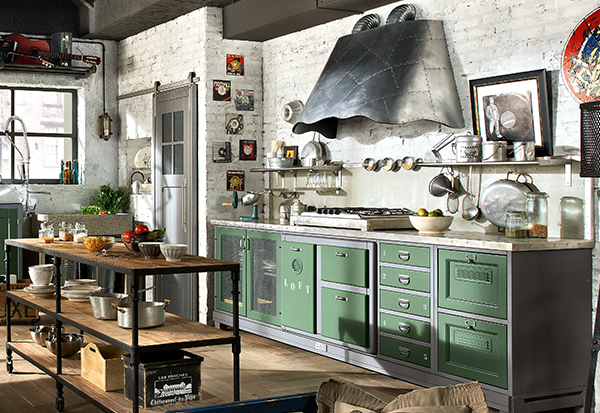 La cucina in stile industriale 15 idee trendy da cui for Arredamento industriale ikea