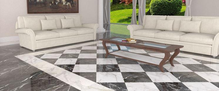 Soggiorno Pavimento Marmo : Pavimenti bianchi e neri in soggiorno idee a cui