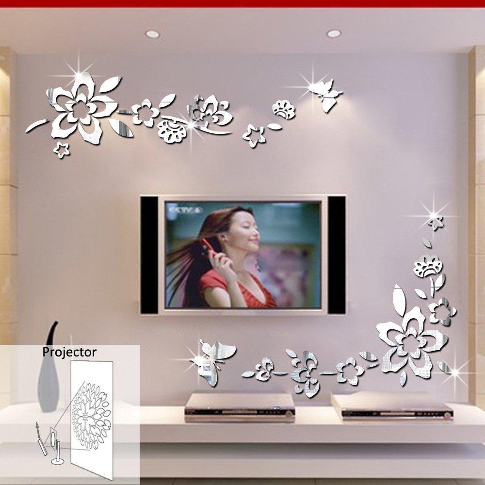 Adesivi effetto specchio 15 bellissime decorazioni per for Specchi adesivi murali