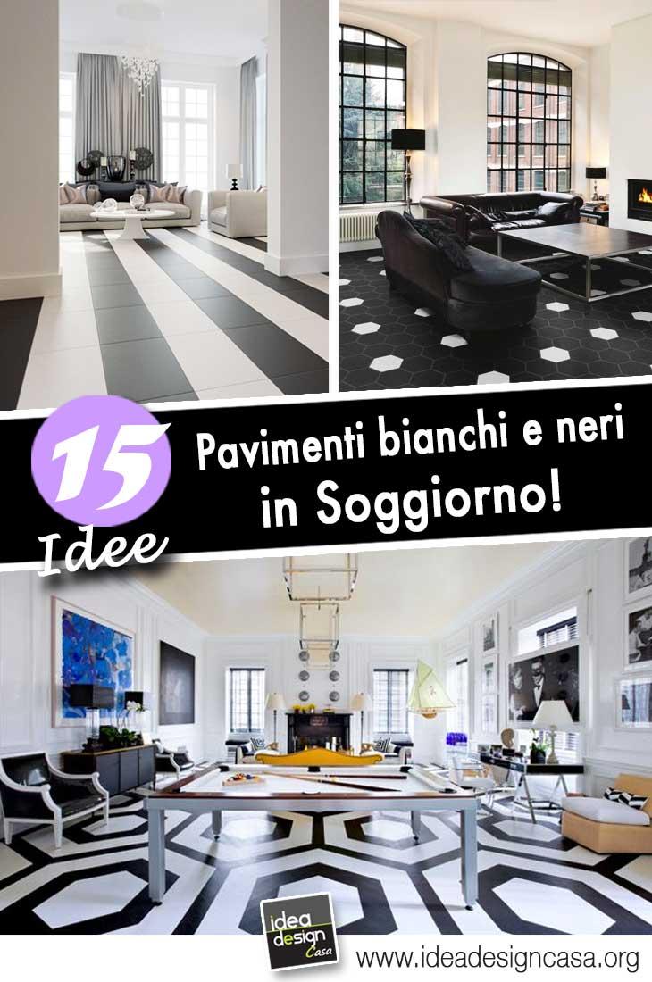 Pavimenti bianchi e neri in soggiorno 15 idee a cui ispirarvi - Idea design casa ...