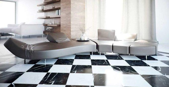 Pavimenti bianchi e neri in soggiorno: 15 idee a cui ispirarvi!