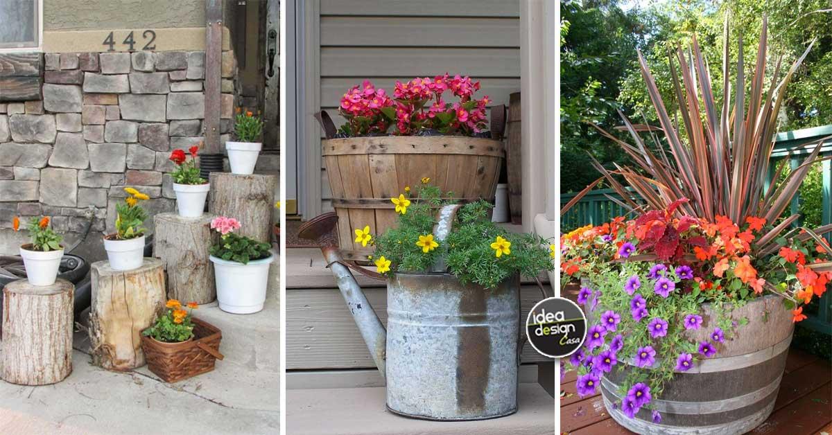 Decorare il portico con una bella fioriera fai da te 24 for Idee per realizzare una fioriera