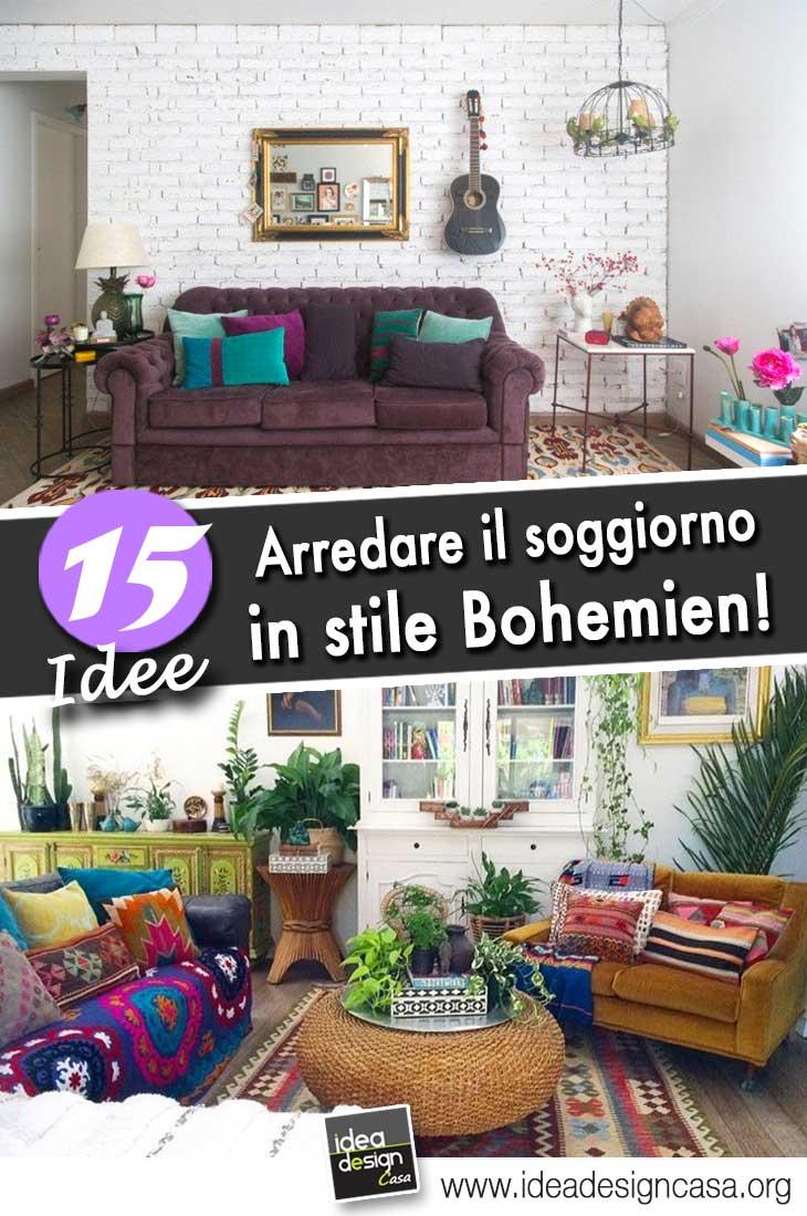 arredare il soggiorno in stile bohemien 15 bellissime