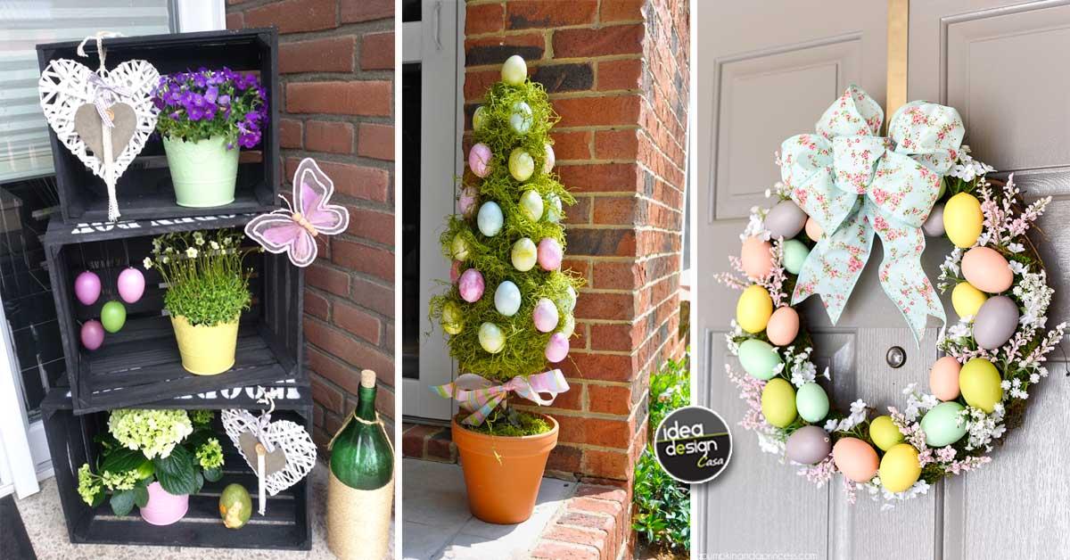 decorare il portico di casa per pasqua 17 idee bellissime