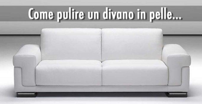 Come pulire un divano in pelle qualche idea semplice e