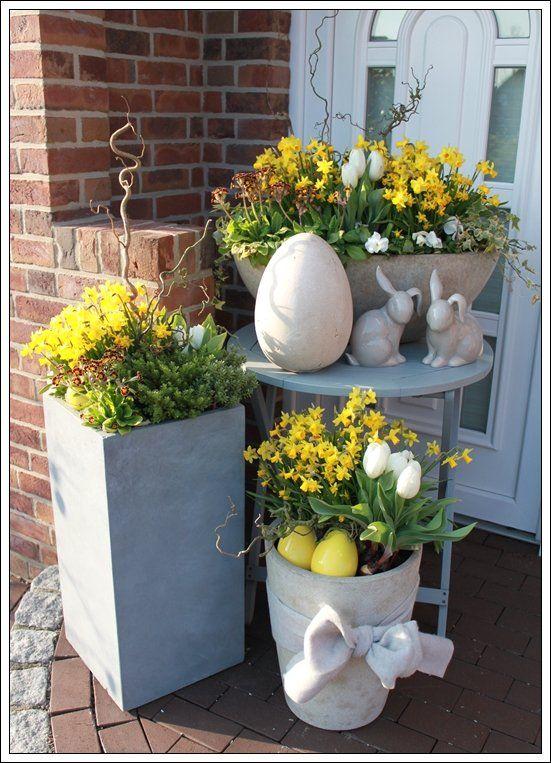Decorare il portico di casa per pasqua 17 idee bellissime per ispirarvi - Osterdeko modern ...