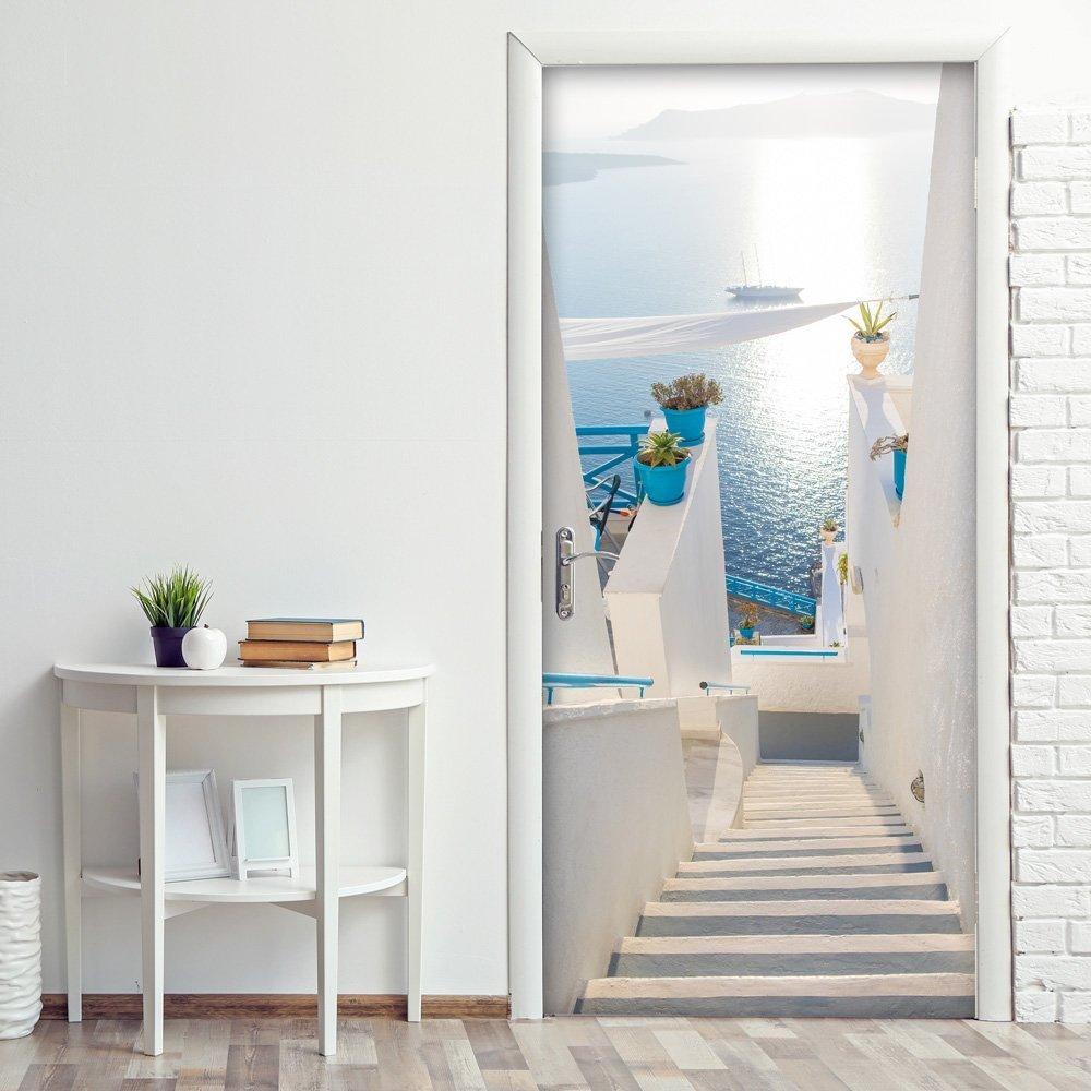 Decorare le porte interne con fantasia con adesivi o carta for Decorazioni adesive per mobili