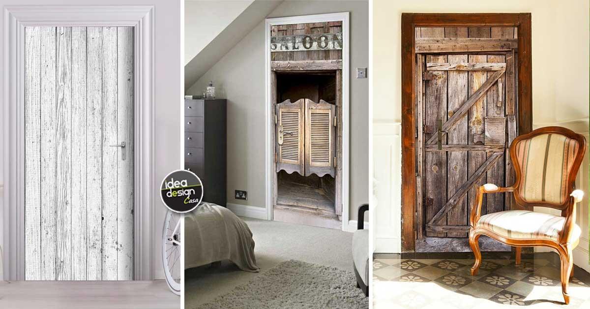 Decorare le porte interne con fantasia con adesivi o carta da parati - Idea design casa ...