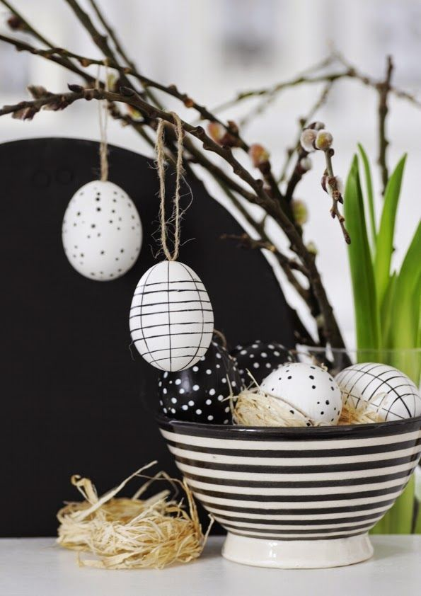 Pâques en noir et blanc