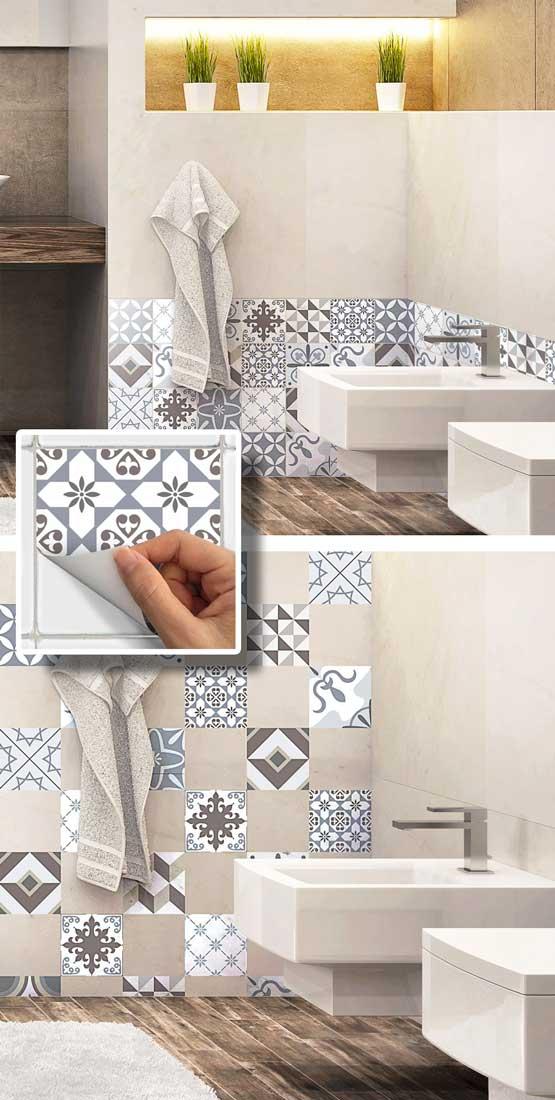 Decorare con le piastrelle adesive 16 idee per la vostra - Decorare le piastrelle ...
