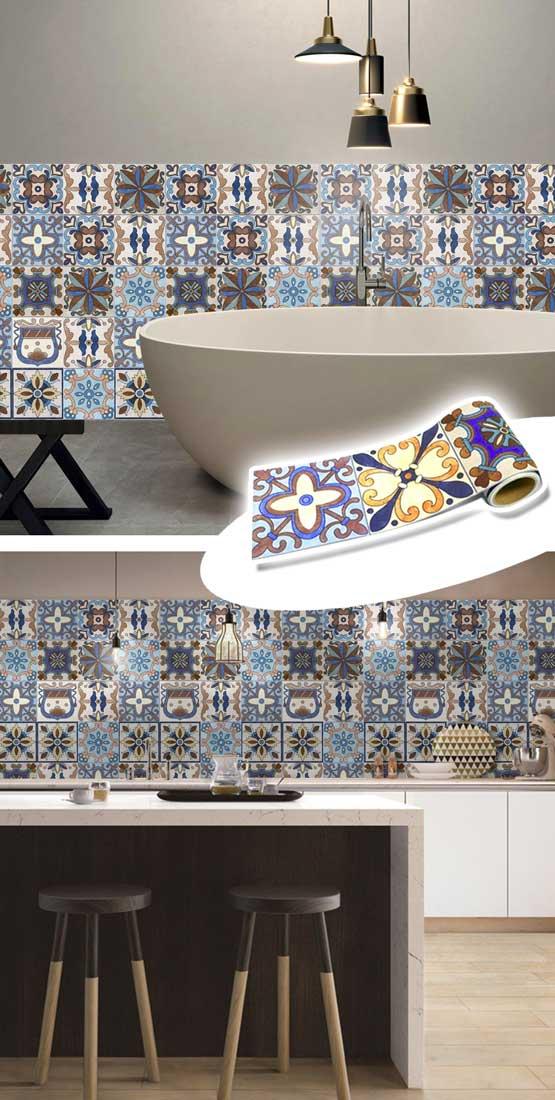 Decorare con le piastrelle adesive 16 idee per la vostra - Piastrelle adesive per pareti ...