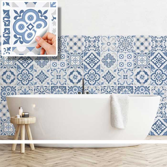 Piastrelle autoadesive stickers mosaico piastrelle for Decorazioni autoadesive per mobili