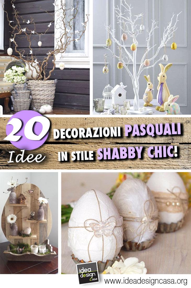 Decorazioni di pasqua stile shabby chic 20 idee creative for Decorazioni shabby chic