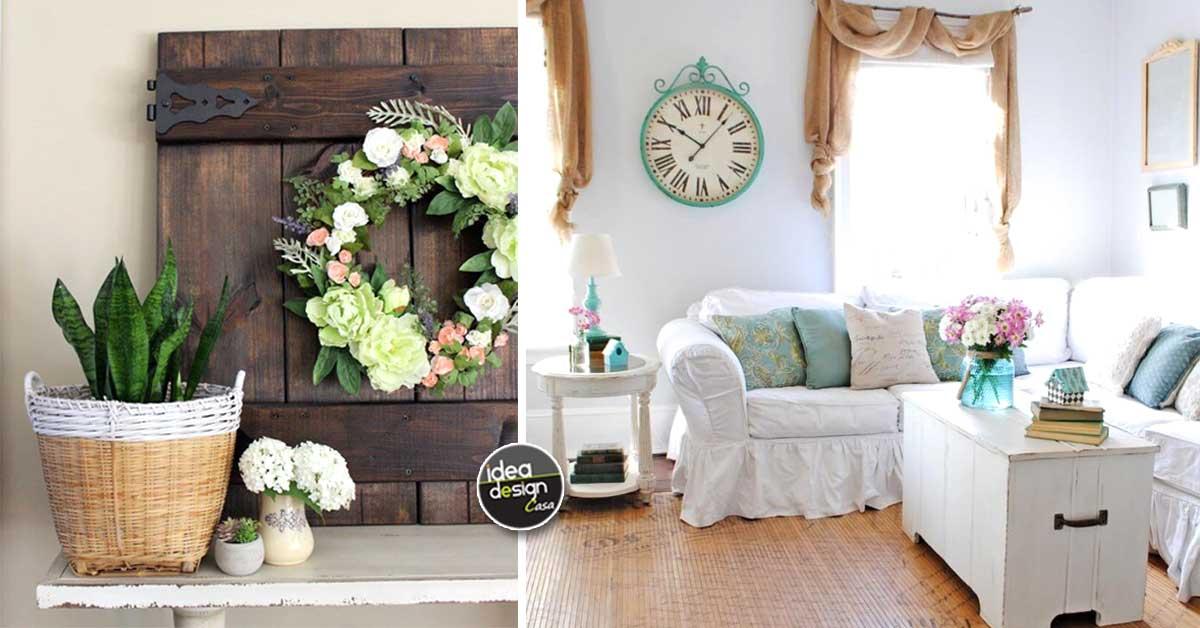 Decorazioni primaverili fai da te in stile rustico 20 for Decorazioni per casa