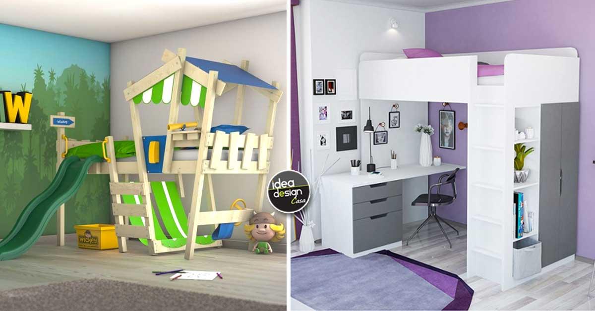 Ottimizzare la camera dei bambini con un letto a soppalco for Camera ragazzi con soppalco