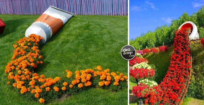 Un vaso di fiori originale in giardino 13 fantastiche - Idee per creare un giardino ...