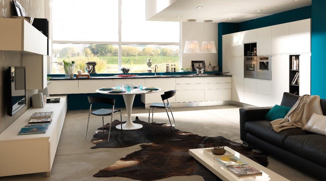 Come arredare una cucina a vista 15 idee assolutamente da copiare - Arredare soggiorno rettangolare ...
