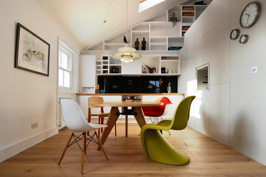 La sala da pranzo in mansarda: 15 idee per arredare con ...