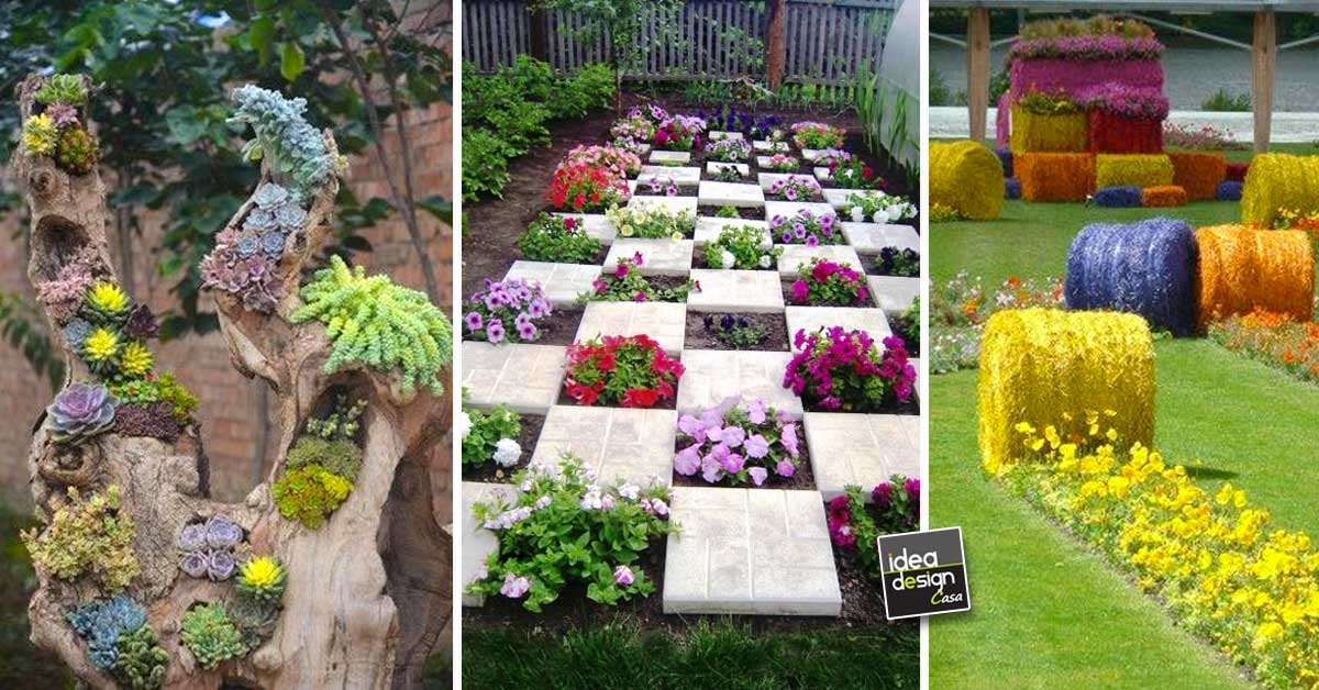 Decorare il giardino in modo creativo con i fiori 15 idee - Idee decorazioni giardino ...