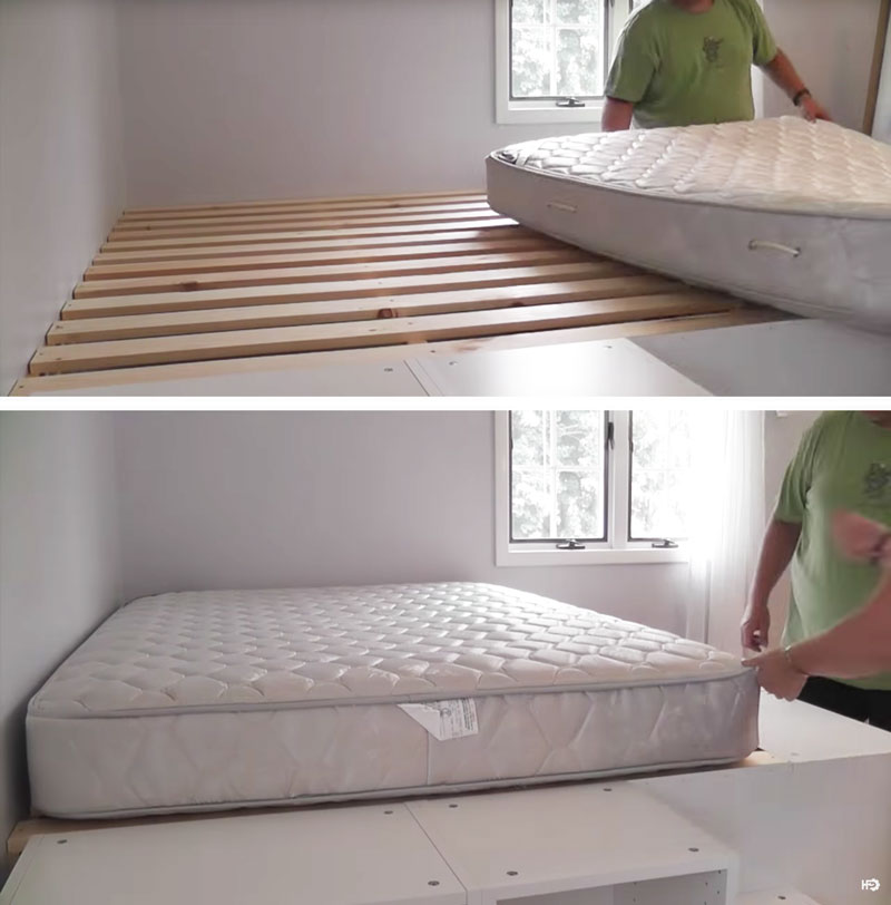 Un letto salvaspazio a piattaforma con 7 mobili da cucina ikea video - Pronto letto ikea ...