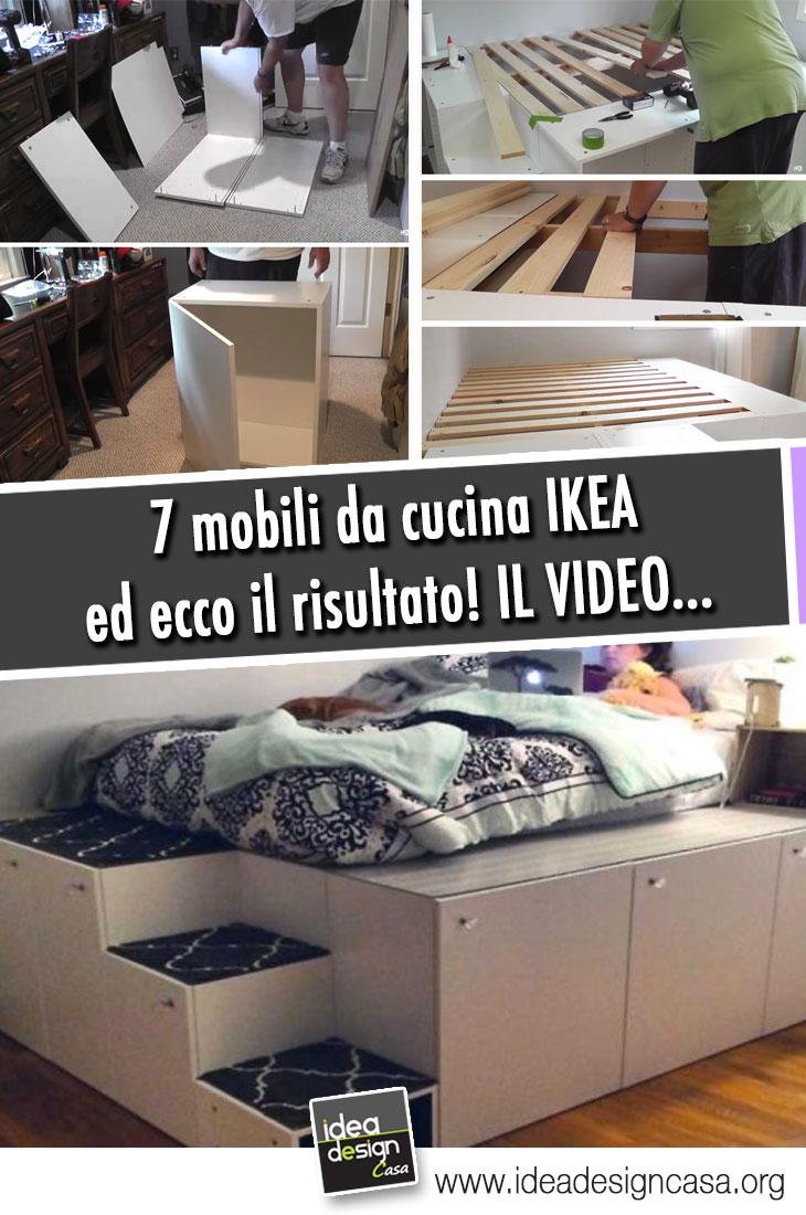 Ikea Mobili In Vimini un letto salvaspazio a piattaforma con 7 mobili da cucina