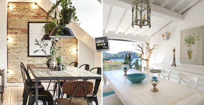 Credenza Per Mansarda : La sala da pranzo in mansarda: 15 idee per arredare con fantasia!