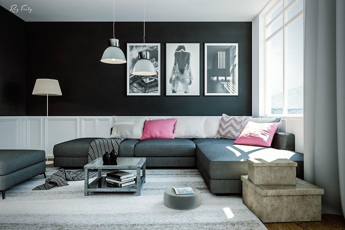 Colori pareti in soggiorno 15 idee per non sbagliare - Colori per pareti soggiorno ...