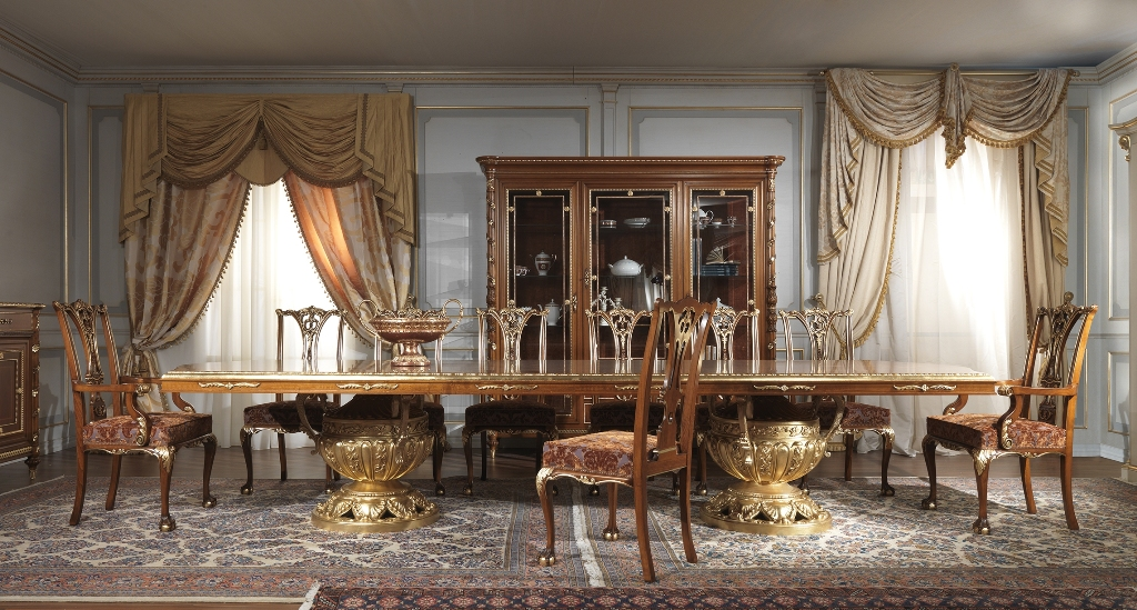 La sala da pranzo neo classica