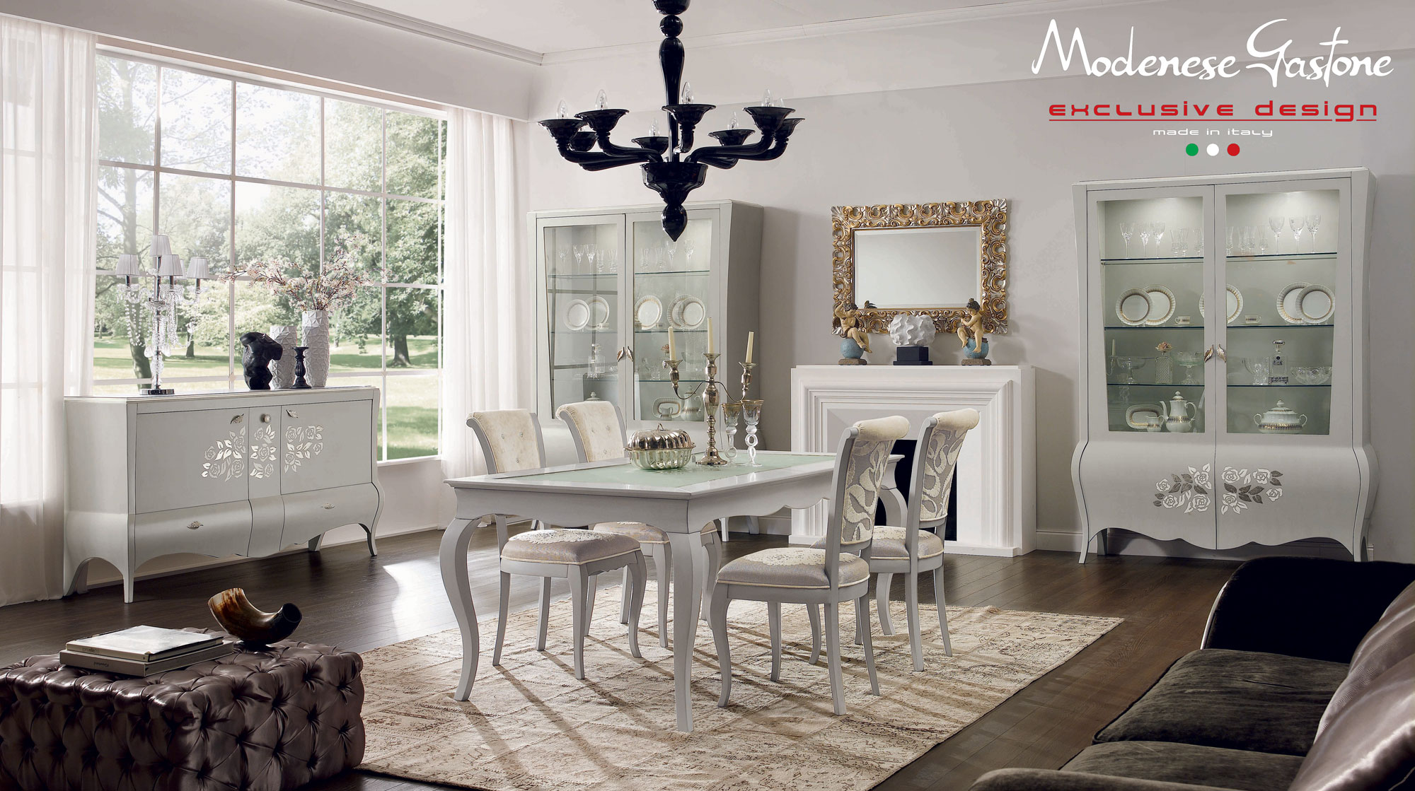 La sala da pranzo neo classica 15 idee per ispirarsi for Sala da pranzo decor