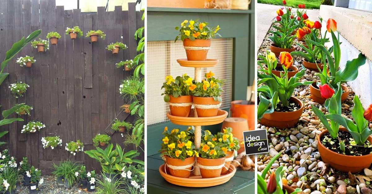 Vasi di terracotta per abbellire il giardino 15 idee da for Oggetti per abbellire il giardino